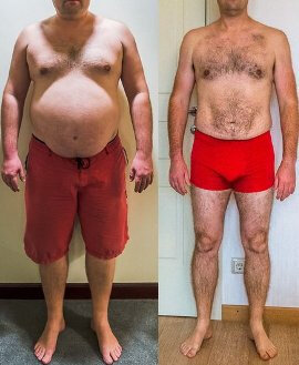 Before and after use Dietonus 2