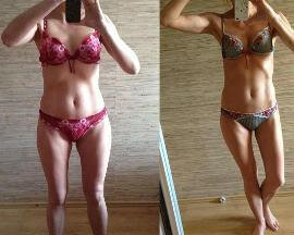 Before and after use Dietonus 5